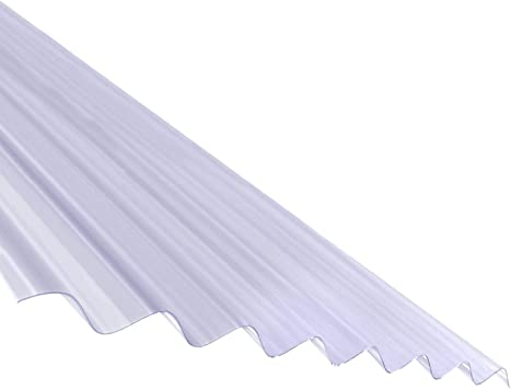 3m Plastic Corrugated Roof Sheet Corrapol Pvc Roofing Shed Garage Barn Lean To Amazon Co Uk Diy Tools