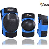 JBM Adult / Child Knee Pads Elbow Pads Wrist Guards 3 In 1 Protective Gear Set For Multi Sports Skateboarding Inline Roller Skating Cycling Biking BMX Bicycle Scooter