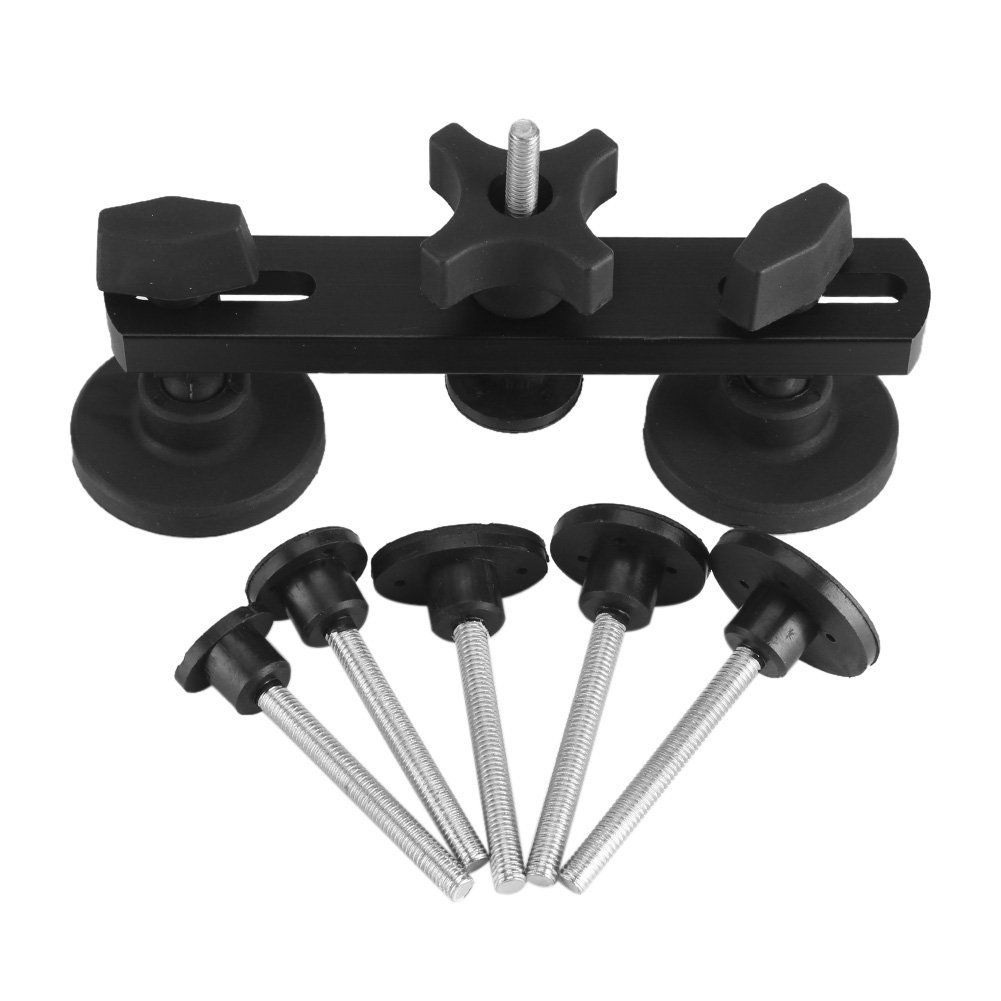 Car Bridge Puller Kits Paintless Dent Removal Repair Tools with 6 Size Glue Tabs Zerodis