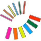 Dyslexia Tools for Kids, 12 Pieces Guided Reading Strips Highlight Strips Colored Overlay Highlighter Bookmarks Tracking…