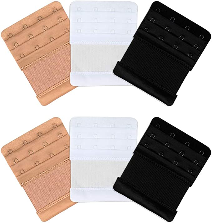 BRA EXTENDER STRAP 4 HOOKS 3 ROW BLACK NUDE WHITE  MATERNITY PREGNANCY CLIP ON