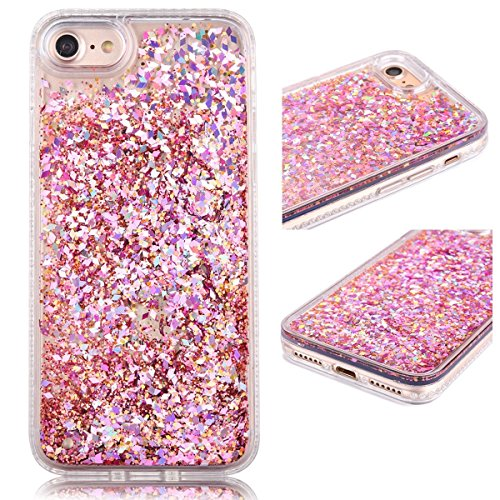 iPhone 6S Plus Case, Shinymore Full Protection Soft Bumper Case 3D Creative Sparkle Dynamic Liquid Flowing Floating Glitter