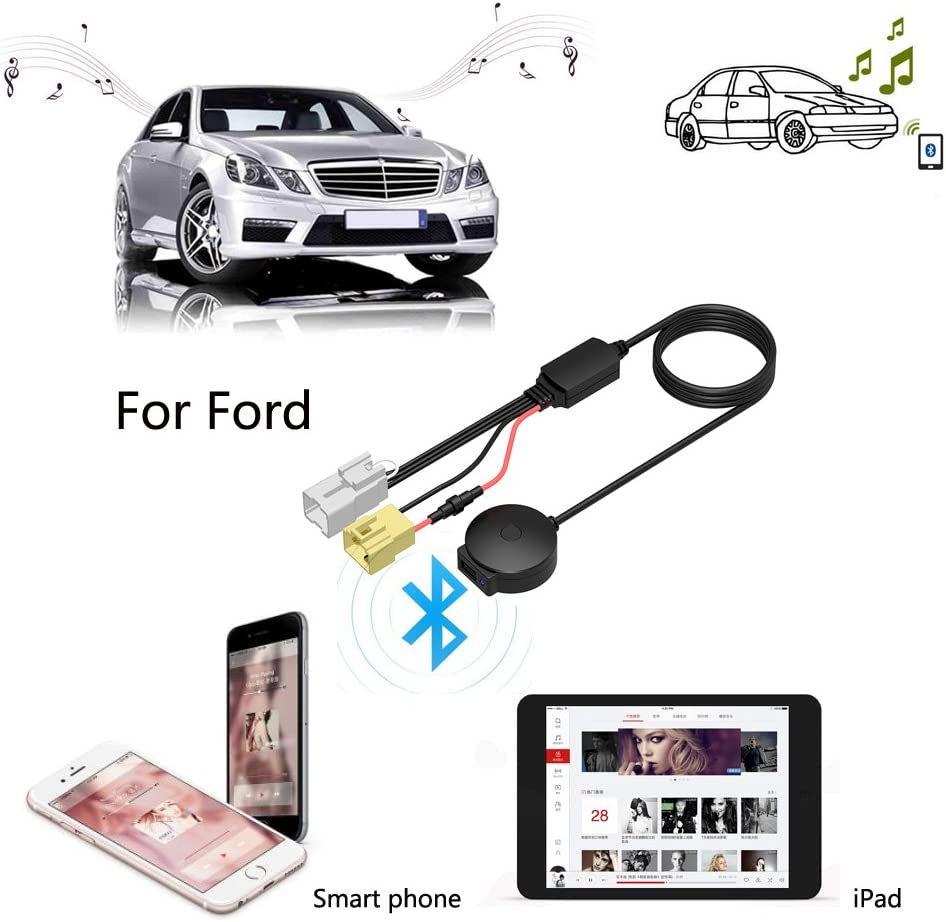 3.5mm Aux Female Interface Cable for Ford CHELINK Speaker Harness Music Audio USB