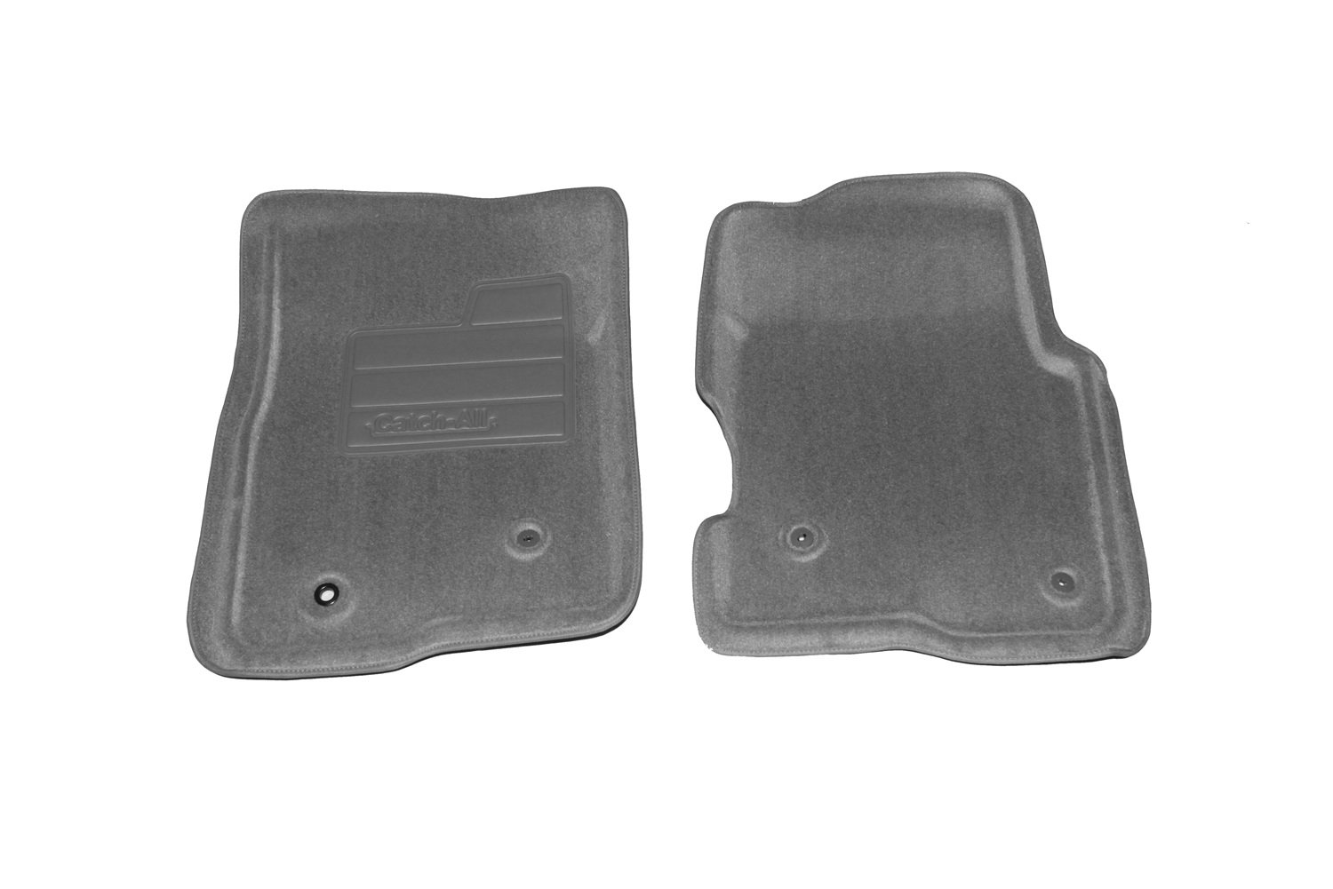 Set of 2 Lund 606471 Catch-All Carpet Gray Front Floor Mat