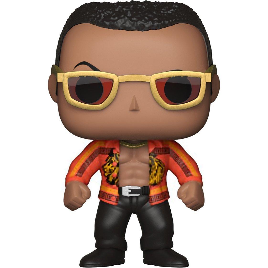 Bundled with Pop BOX PROTECTOR CASE Funko Pop WWE The Rock Old School Vinyl Figure