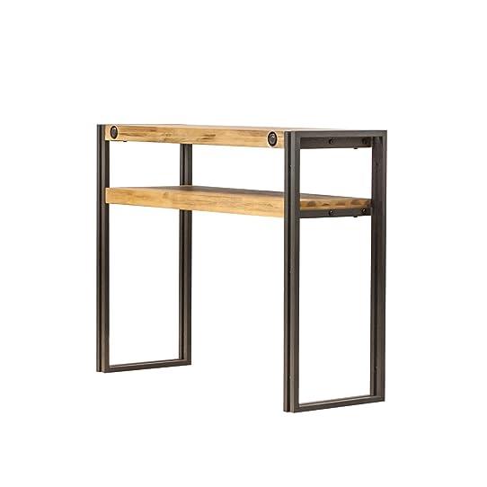 Console d\'appoint style industriel en bois d\'acacia massif brossé ...