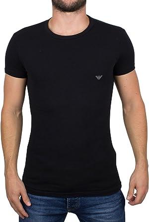 Emporio Armani Hombre Camiseta del logotipo, Negro: Amazon.es: Ropa y accesorios