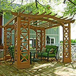 Yardistry Arched Roof Pergola, 12 by 14-Feet, Tugboat