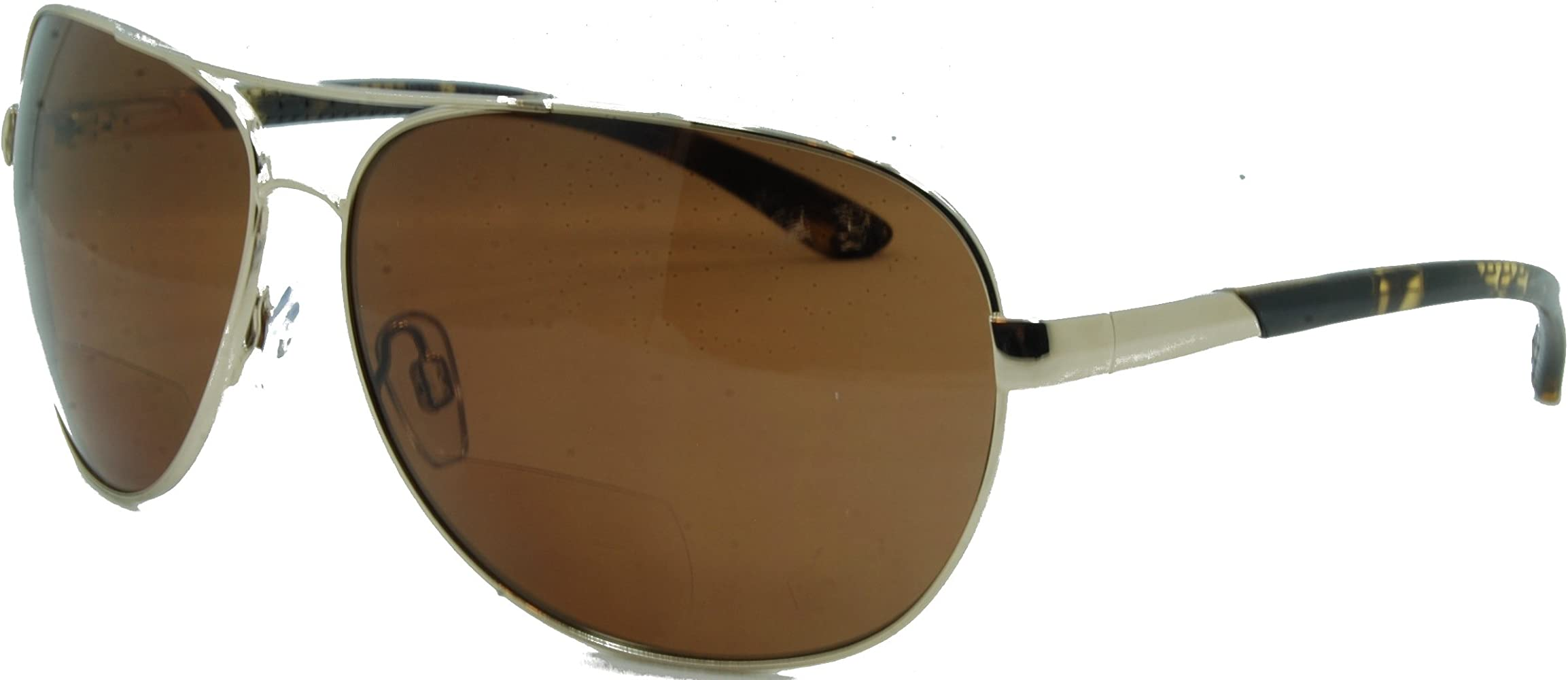 C Moore Polarized Aviator Nearly Invisible Line Bifocal Sunglasses