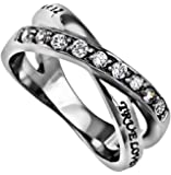 """Radiance Purity Ring """"True Love Waits"""" 1 Timothy 4:12"""