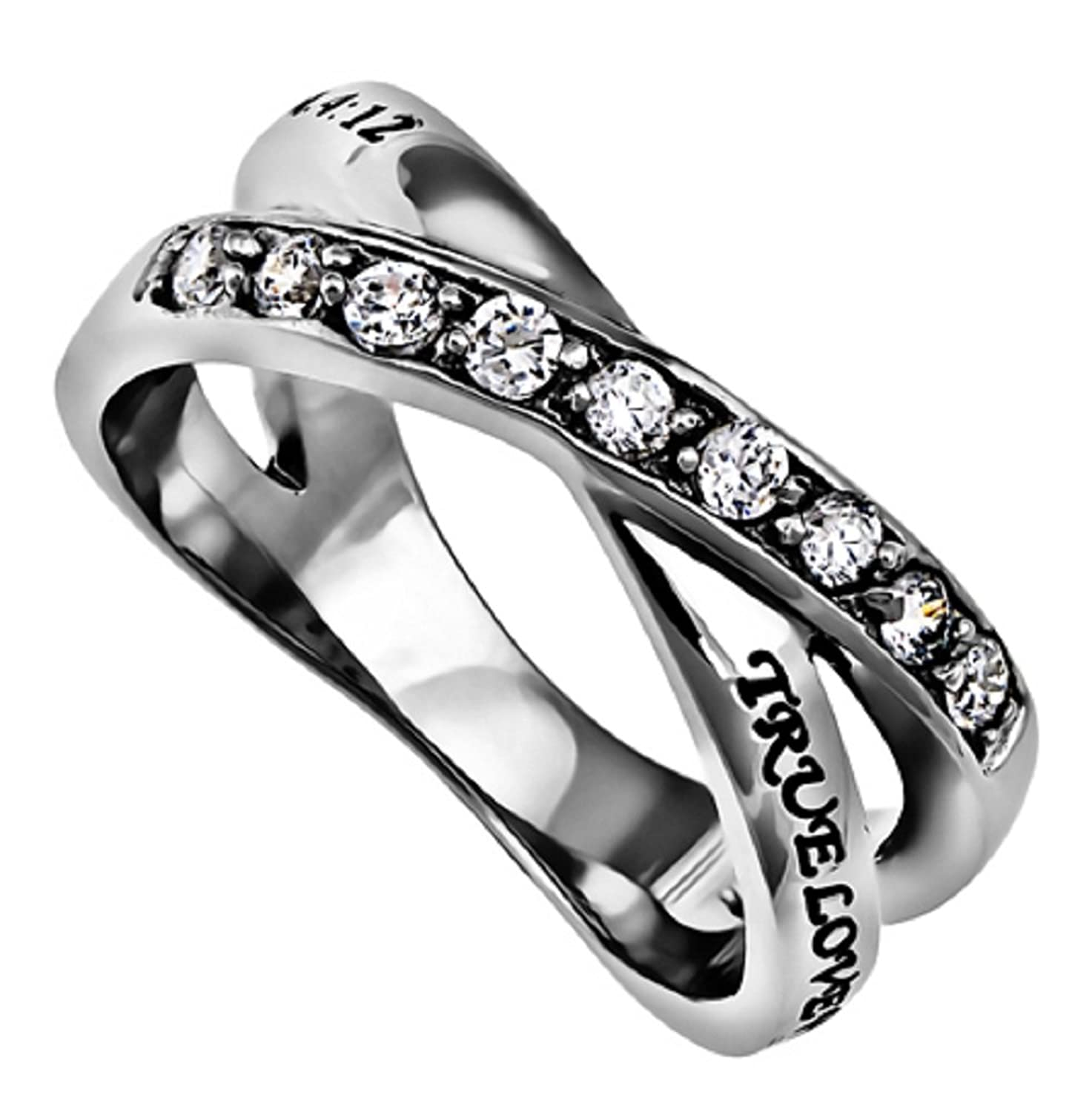 Amazon.com: TRUE LOVE WAITS CHRISTIAN Purity & Chastity Ring ...