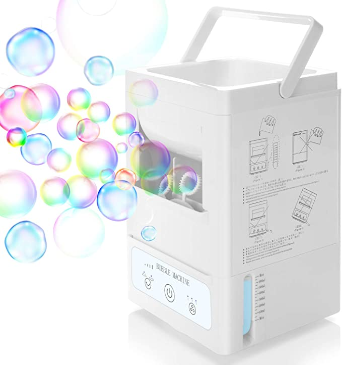 UP TO150 BUBBLES PER MIN BATTERY OR MAINS LARGE PINK PARTY TIME BUBBLE MACHINE