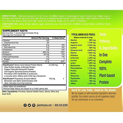 PlantFusion-Complete-Plant-Based-Protein-Powder-Vanilla-Bean-2-Lb-Tub-30-Servings-1-Count-Non-GMO-Gluten-Free-Hypoallergenic