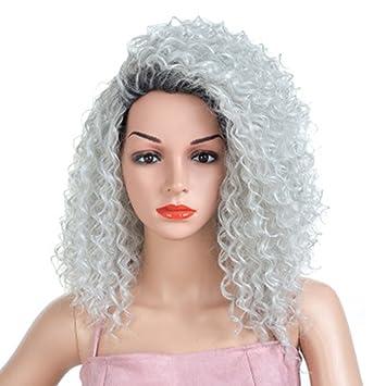 Mujeres de Pelo Corto Pequeño Europeo y Americano Peluca de Moda Fluffy Pequeño Volumen Explosión Cabeza