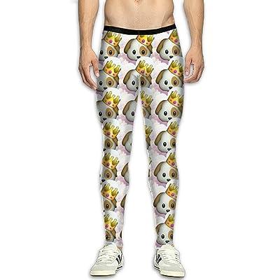 GFGRFDD King Dog Printed Yoga Pants Men Anti-Sweat Bodybuilding Sport Skull Leggings Quick Drying