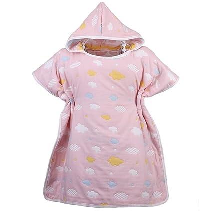 NaXinF peignoirs para niños algodón Albornoz para niños Toalla de baño de diseño de Nubes de