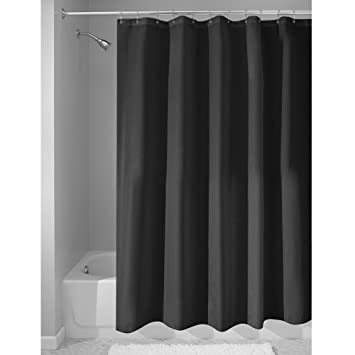 Curtains Ideas black cloth shower curtain : Amazon.com: InterDesign Fabric Waterproof Shower Curtain Liner ...
