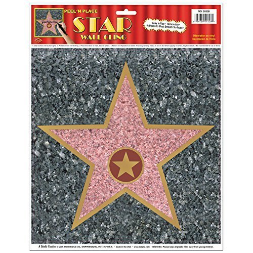 Beistle 55328 Star Peel N Place Sheet, 10 by 11 - Inch (Value 3-Pack) -