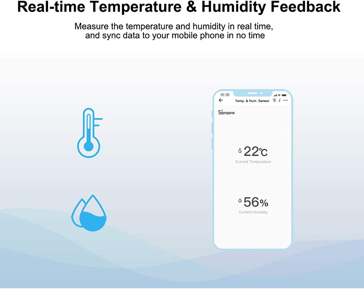 Moniclern SNZB-02 ZigBee Temperature and Humidity Sensor Real Time Low-Battery Notification Works with ZigBee Bridge eWeLink APP Remote Control