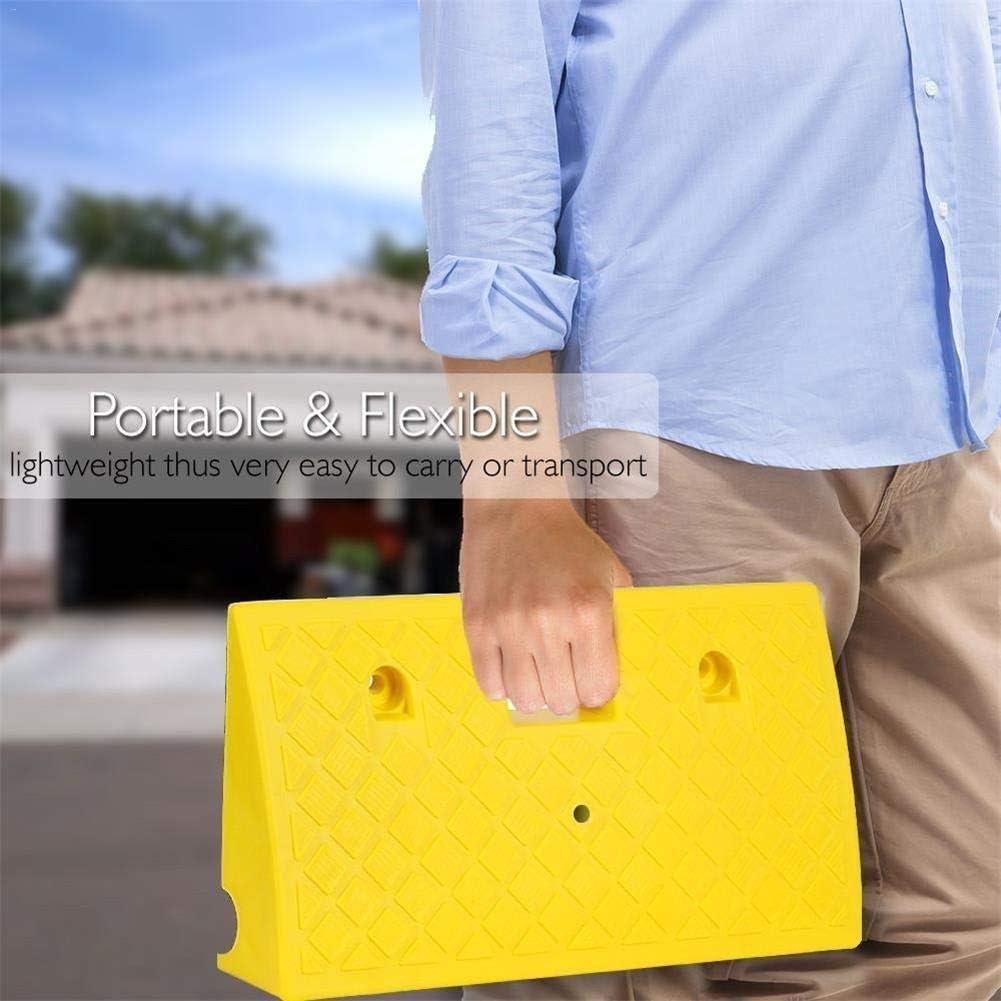 Color : Black, Size : 50x22x5cm Rampas port/átiles Umbral Rampas Heavy Duty Plastic Kit de rampa fijado for el Camino de entrada de la acera Movilidad silla de ruedas