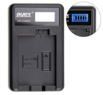 ayex - Cargador USB para Canon Cámara de batería Tipo LP-E5 ...