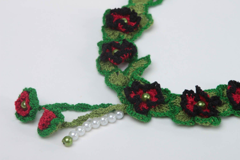ea4a86a6c70c Collar tejido a ganchillo hecho a mano accesorio de moda bisuteria textil   Amazon.es  Hogar