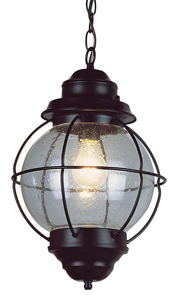 Trans Globe Lighting 69906 BK Outdoor Catalina 19'' Hanging Lantern, Black
