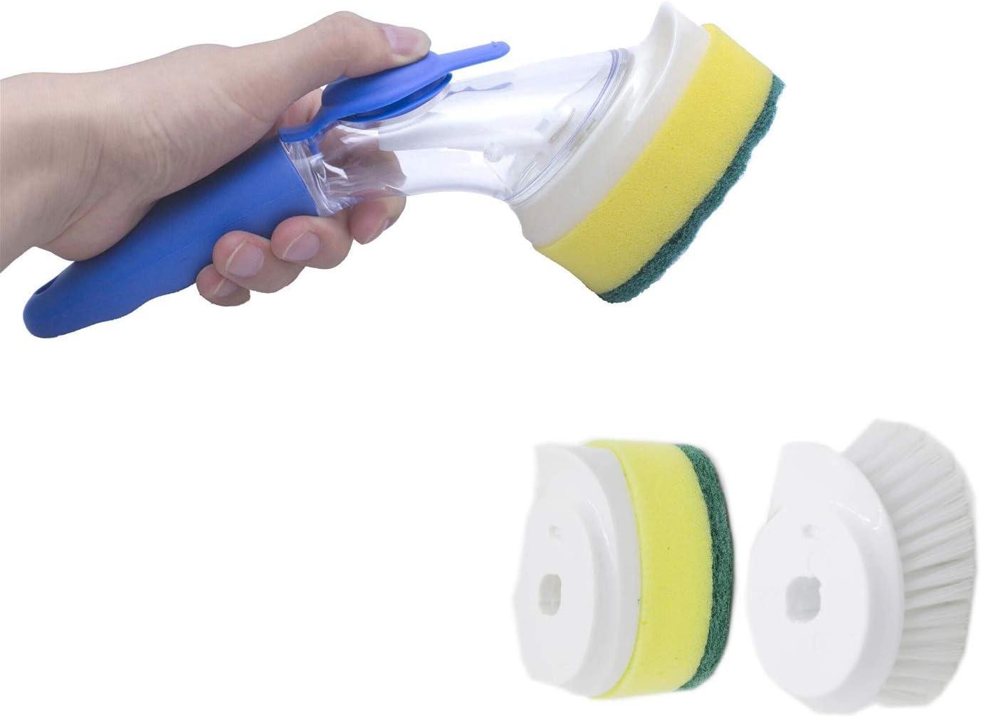 Yohong 3 Pack Cepillo de limpieza con detergente, Esponja Cepillo de limpieza para utensilios de cocina Fácil y Ahorro de tiempo, adecuado para cocina, baño, salón: Amazon.es: Hogar