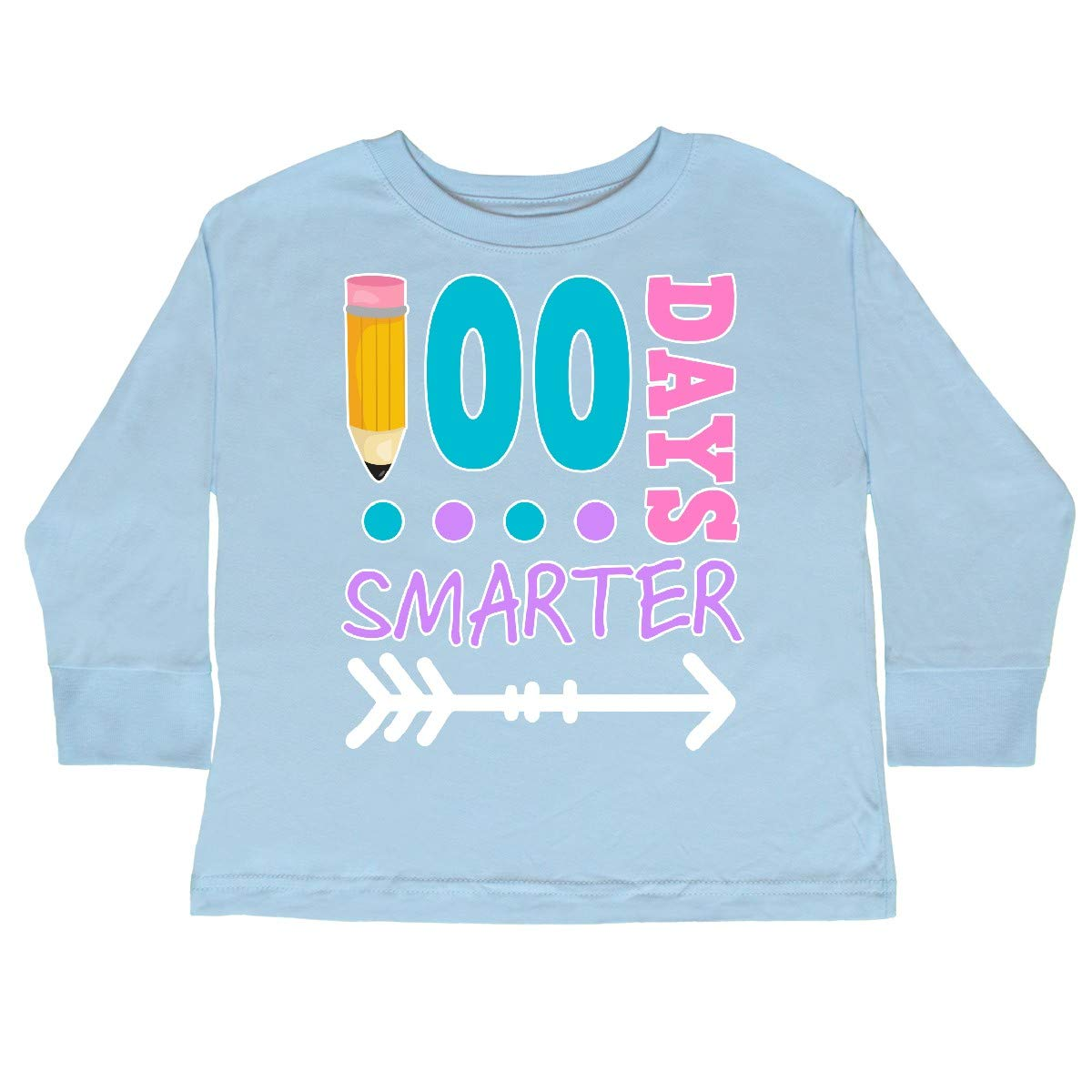 inktastic 100 Days Smarter with Arrow Toddler Long Sleeve T-Shirt