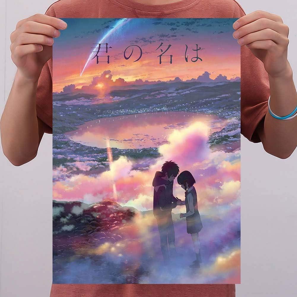 Kunandroc Attack on Titan Sword Art Online Divers Anime - Póster decorativo con personajes de banda de dibujo de papel pintado Your Name: Amazon.es: Hogar