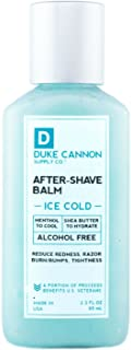 product image for Duke Cannon Supply Co. - Ice Cold Cooling Effect After-Shave Balm, Ice Cold Feeling (2.3 oz) Cooling After Shave Balm that Closes Pores and Soothes Skins to Prevent Irritation - Sandalwood