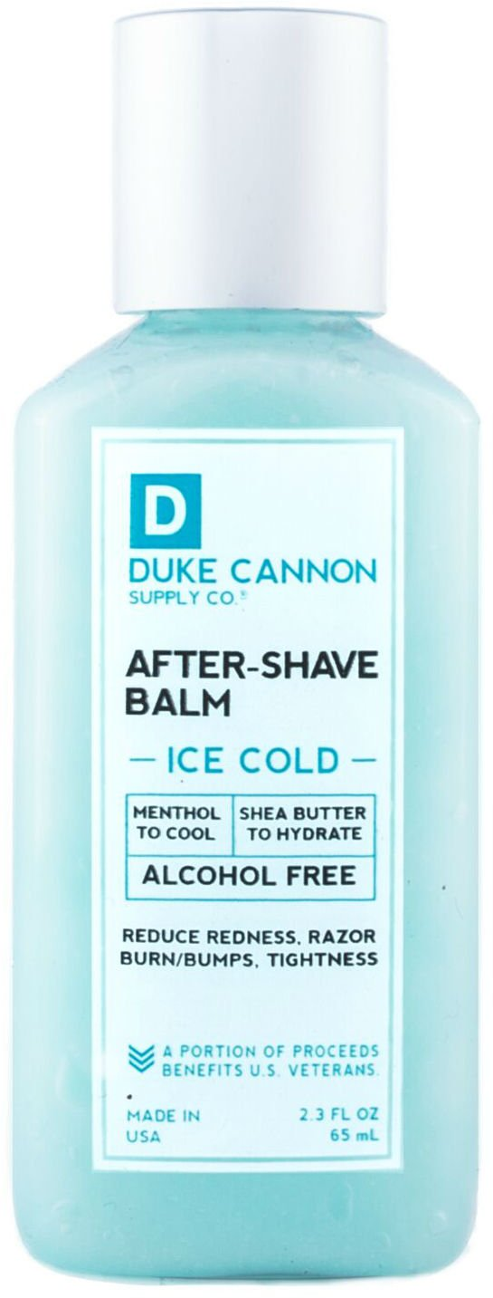 Duke Cannon Travel Size After-Shave Balm - Ice Cold, 2.3 fl. oz/Alcohol-Free, Paraben-Free, Sulfate-Free