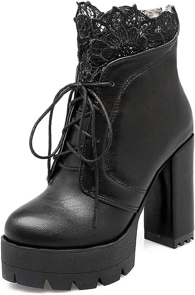 SO SIMPOK Womens Platform Ankle Boots