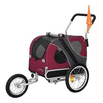 DOGGYHUT - Remolque para perro para arrastre por bicicleta (tamaño mediano, con kit para