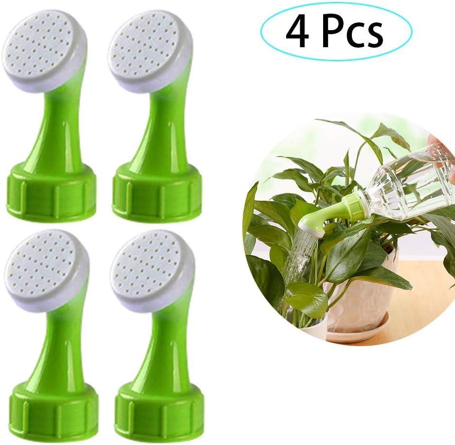 HPiano Cabezales para riego para Botellas 4 Piezas Tapas de riego para Botellas de plástico, Regadera de Botella Tapas para el hogar Herramienta de riego para Plantas en macetas