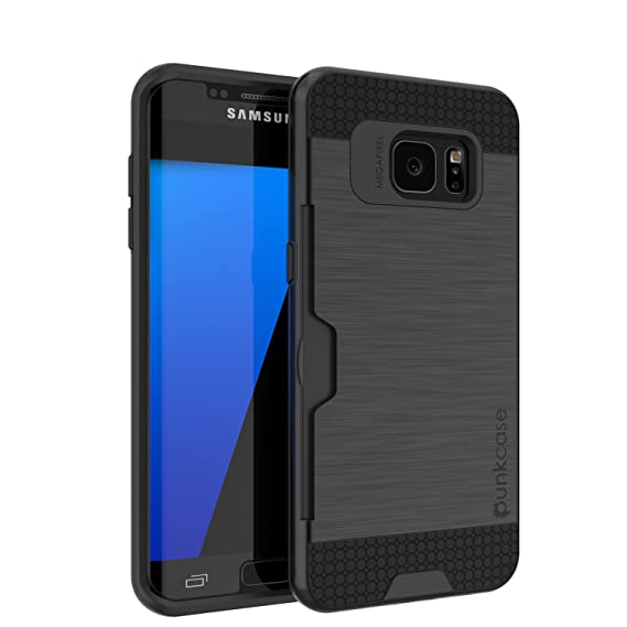 sports shoes e998d 11734 Galaxy S7 Edge Case, PUNKcase [SLOT Series] [Slim Fit] Dual-Layer Armor  Cover w/Integrated Anti-Shock System, Credit Card Slot & PUNKSHIELD Screen  ...