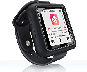 Mymahdi Sport Music Clip, 32GB Bluetooth MP3 Player with FM Radio/Voice Record Function,Touch Screen Player,Max Support up to 128GB, Black