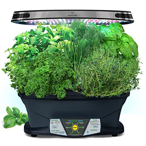 [Miracle-Gro AeroGarden Extra (LED) with Gourmet Herb Seed Pod Kit] (Gourmet Garden Herbs)