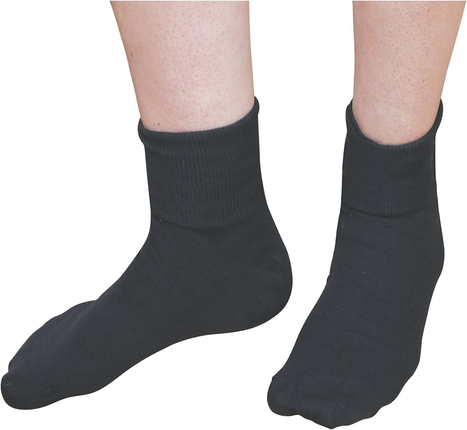 100/% Cotton Buster Brown Women's Low Cut Ankle Socks  Elastic Free 3 Pair