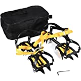 Crampons Mountaineering Heavy Duty Traction Device Anti Slip For Ice Snow Hiking Boots