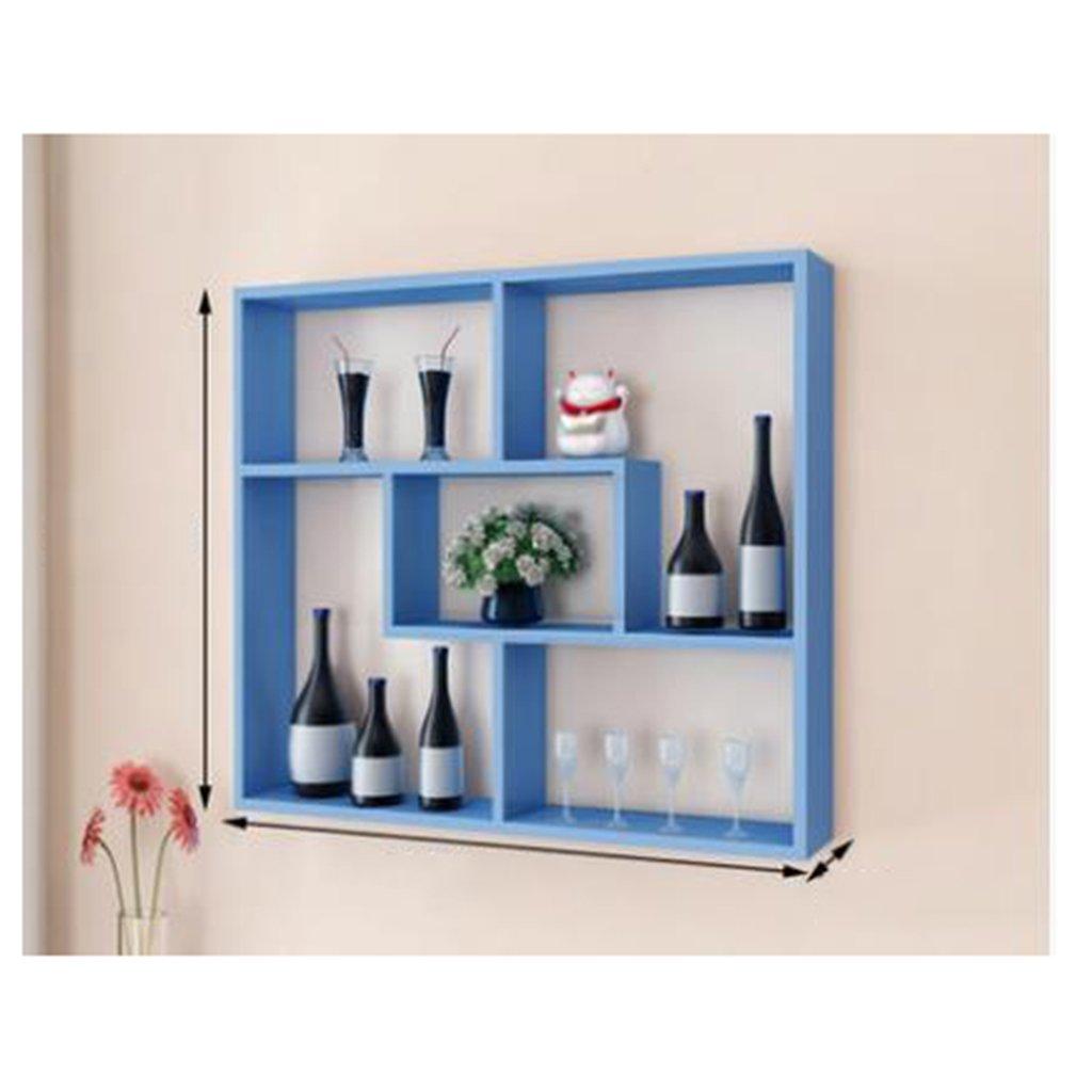Multi-fonctionnel salon chambre mur étagères Tenture murale étagères simple restaurant mur créatif mur hange ( Color