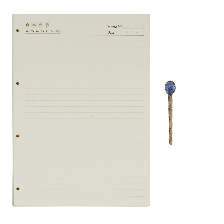 100 Bl/ätter B5 9-Ring Binder Planer Refill Papier f/ür Tagebuch Notizbuch Ringbuch Reisetagebuch Blanko Papier Nachf/üllpapier Notizpapier Ersatzbl/ätter B/üro Schule Schreiben