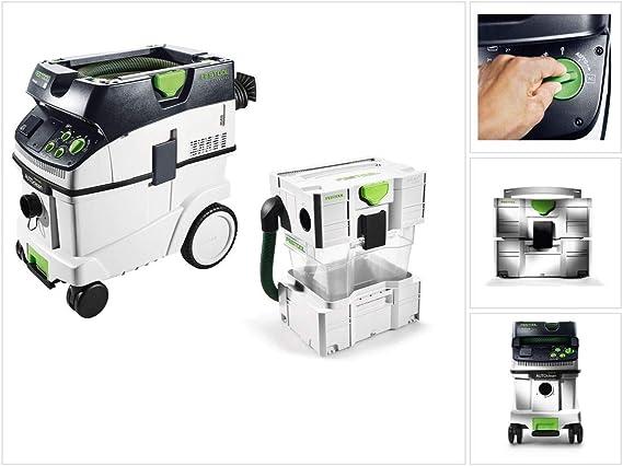 Festool CTM 36 E AC CLEANTEC - Aspirador móvil (36 L) M (574983) + separador CT-VA: Amazon.es: Bricolaje y herramientas