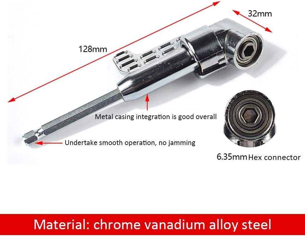 105/° Winkelschrauber Vorsatz Adapter Elektrowerkzeug Zubeh/ör LINVINC Winkelbohrmaschinen