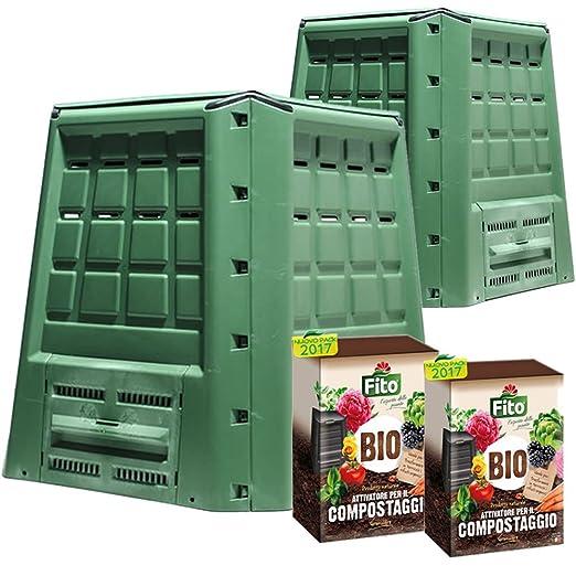Multipack 2 compostiere ecobox Fast 380 LT + 2 paquetes de ...