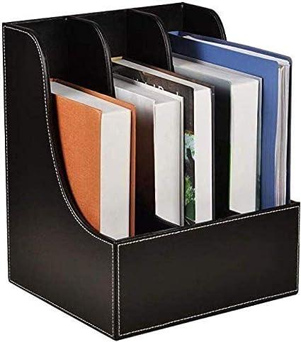 Archivadores planos para archivadores, revistas, archivadores, almacenamiento de escritorio, color café, caja de almacenamiento para muebles de oficina en el hogar, color A: Amazon.es: Oficina y papelería