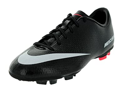 78a1a65be3985 Nike Kids JR Mercurial Victory IV FG Soccer Cleat Black/Dark  Charcoal/Atomic Red/White