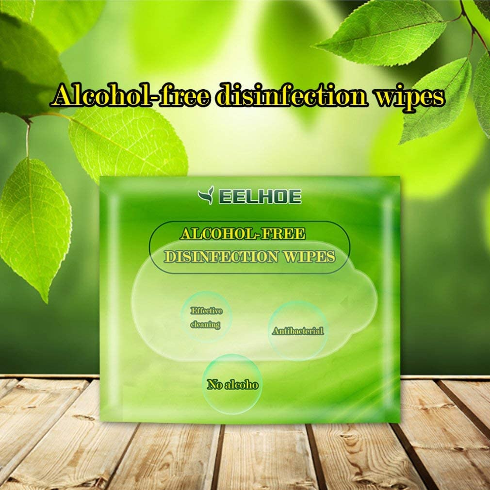 Disinfectant Wipes Health Clean Wipes for Hands Care Cleaning Wet Wipes Tissuet 60Pcs//Bag Alcohol-Free Antibacterial Wipes Hand Moist Wipes