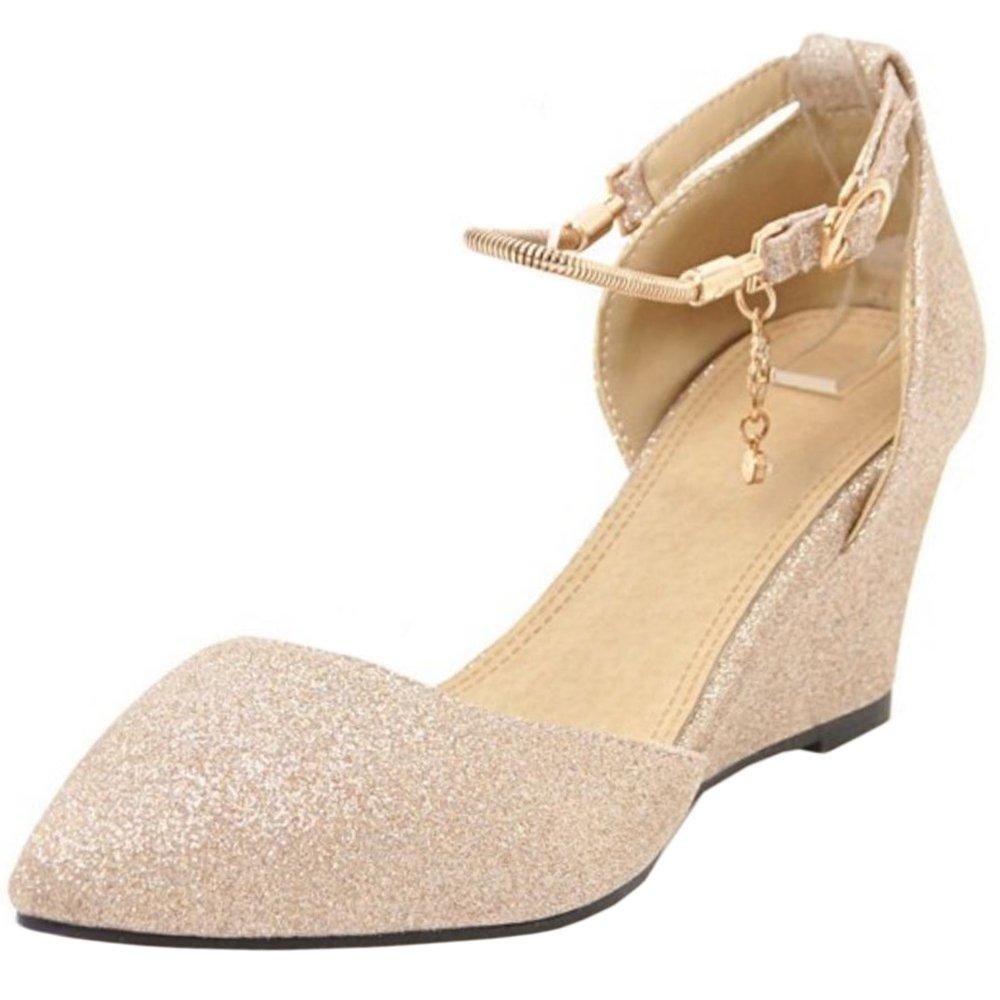 Zanpa Femmes Moda Moda Escarpins Wedge Heels Heels Femmes Gold 6c81d4d - piero.space