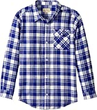 Lucky Brand Little Boys' Long Sleeve Plaid Button Down Shirt, Birch, 6